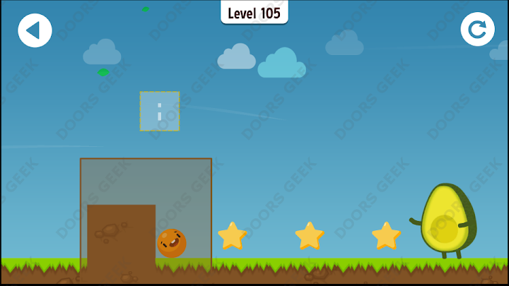 Where's My Avocado? Level 105 Solution, Cheats, Walkthrough, 3 Stars for Android, iPhone, iPad and iPod