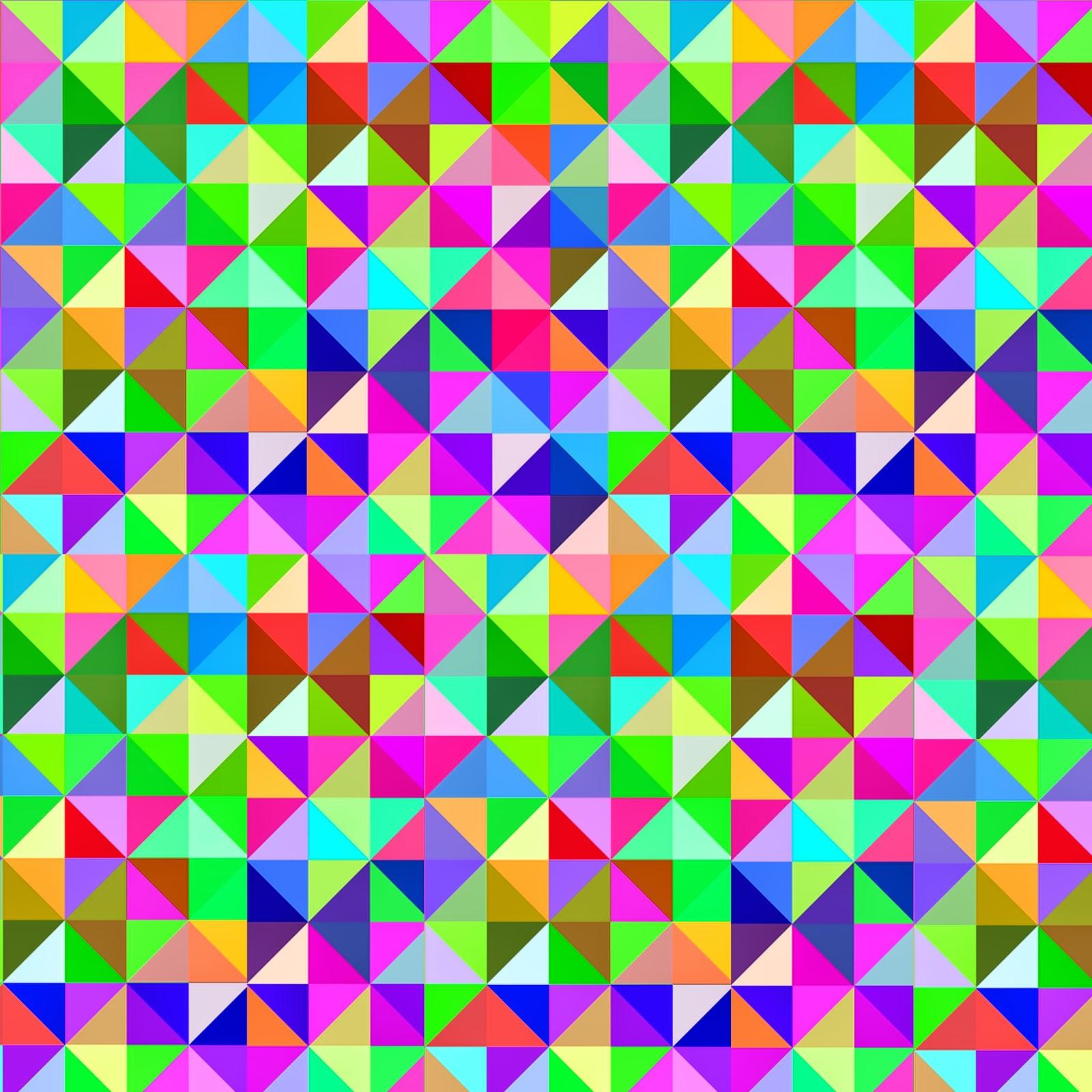 Gigantic Geometric Colorful Triangle Freebies Printables
