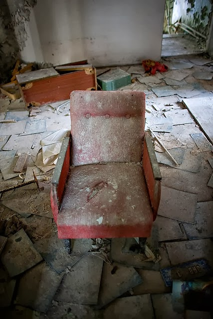 Lonely Chair in Kindergarten, Pripyat Chernobyl