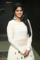Megha Akash in beautiful White Anarkali Dress at Pre release function of Movie LIE ~ Celebrities Galleries 048.JPG