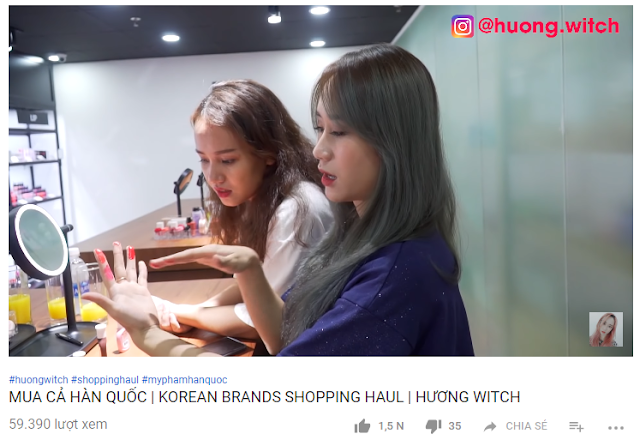 beauty blogger huong witch