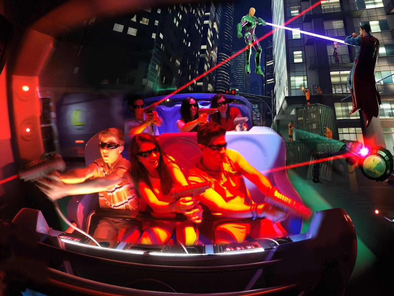 Six Flags Magic Mountain DC Comics The Flash 3-D Magnet