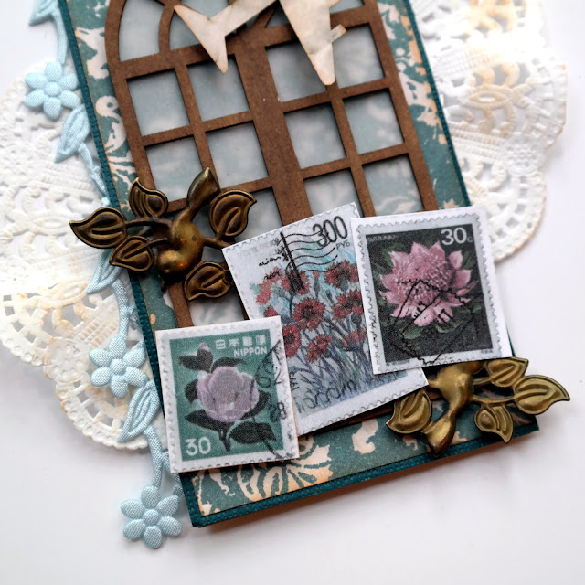 How to Mix Stamps and Metal Embellishments on a Travel Tag by Dana Tatar