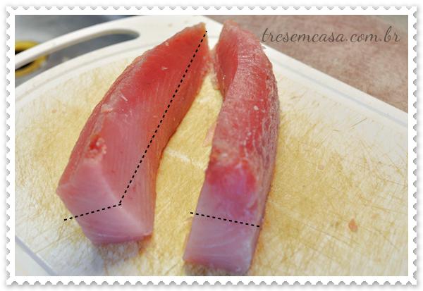 sashimi atum passo a passo