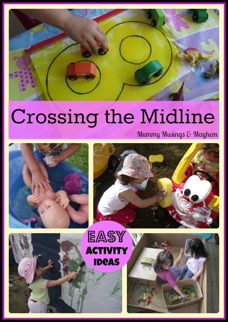 Crossing midline handwriting activities