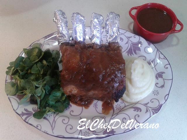 Delicioso Carre de cerdo con Miel de Caña y Vino de Frigiliana