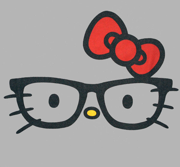 cara de hello kitty con lentes imagui