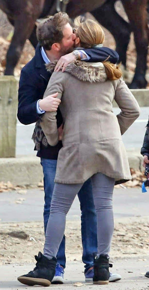 Princess Madeleine of Sweden and Chris O'Neill have been seen walking at Central Park with their daughter Princess Leonore.