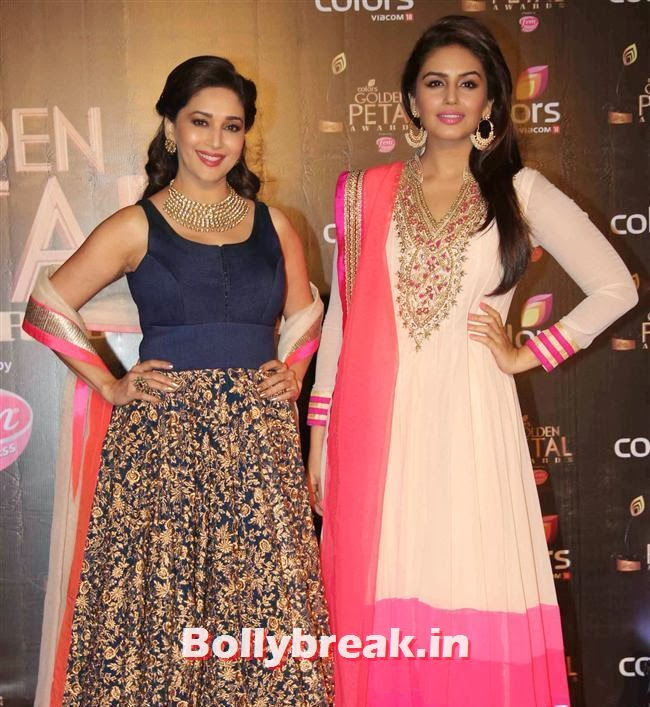 Madhuri Dixit and Huma Qureshi, Colors Tv 3rd Golden Petal Awards