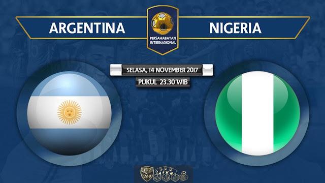 Prediksi Bola : Argentina (N) Vs Nigeria , Selasa 14 November 2017 Pukul 23.30 WIB