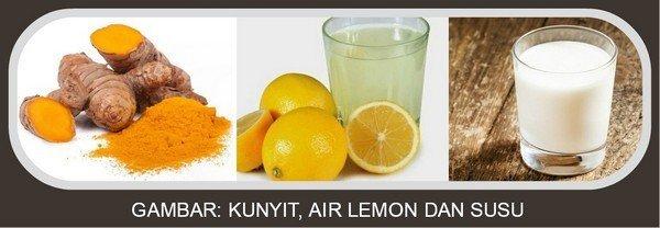 Kunyit, Air Lemon dan Susu
