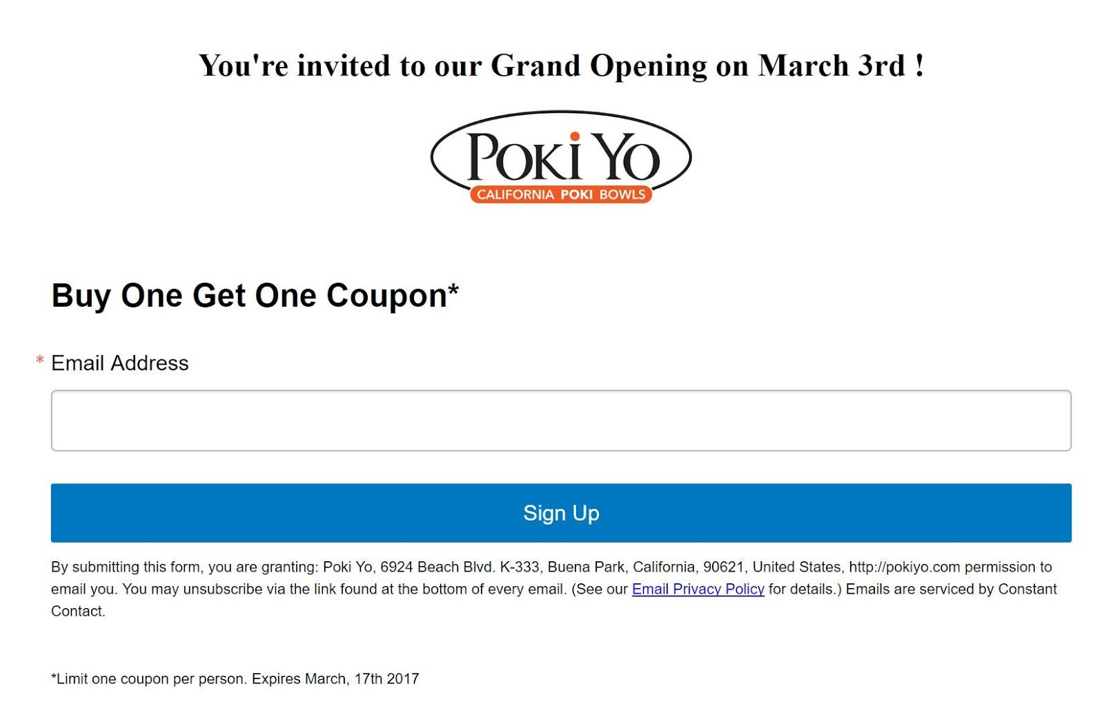 Until Mar  17 | BOGO Free Poke Bowls From The New Poki Yo