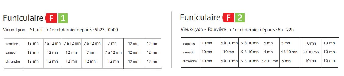 horaires funiculaire