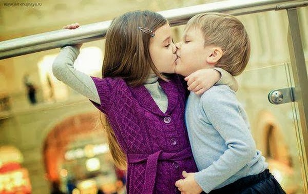 Sweet Kissing Of Cute Little Kids  My Online Mela-5466