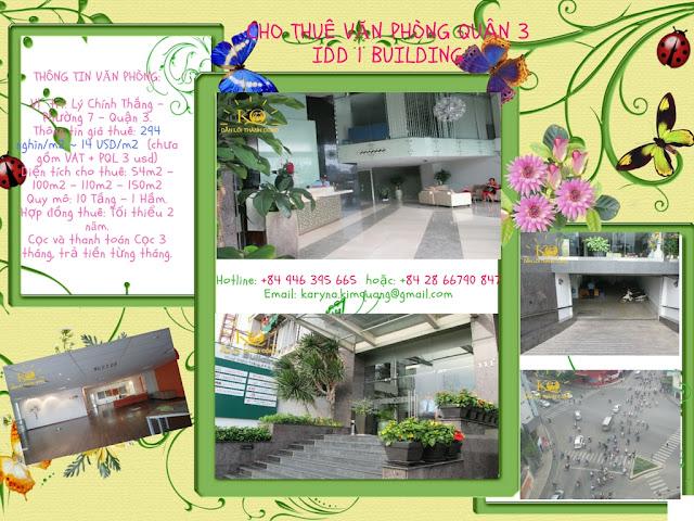 Cho thuê văn phòng quận 3 IDD Building