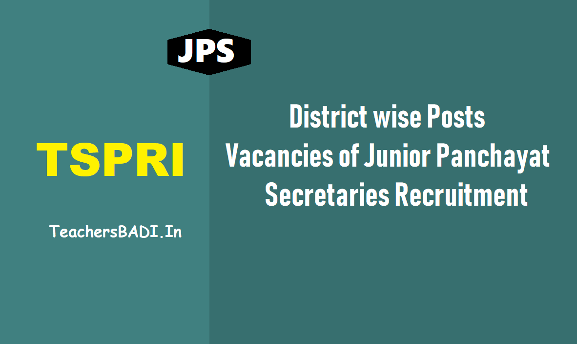 District wise posts, Vacancies of Junior Panchayat Secretary