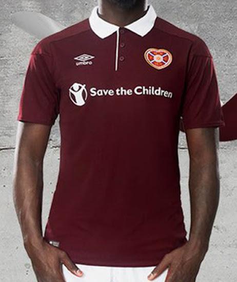 huge selection of c2cea 5d24d Umbro Heart Of Midlothian 17-18 Home Kit Released - Footy ...