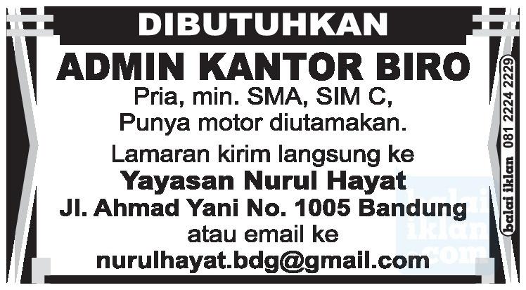 Loker Yayasan Di Bandung Lowongan Kerja Terbaru