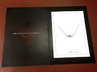 オーダーしたペンダントのデザイン画をプレゼントで頂きました。