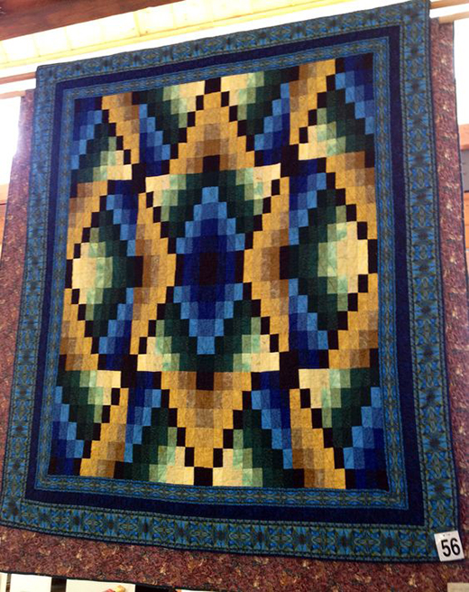 Navajo Seasons Quilt made by Linda M, Designed by Jinny Beyer, The Pattern Designed by Jinny Beyer