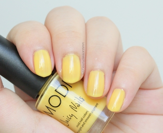 Review: Modi Juicy Nails no. 17 - Banana Shake