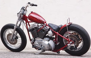 cherry sporty sportster chopper