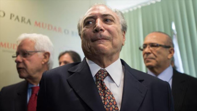 Policía de Brasil: Temer practicó delito de organización delictiva