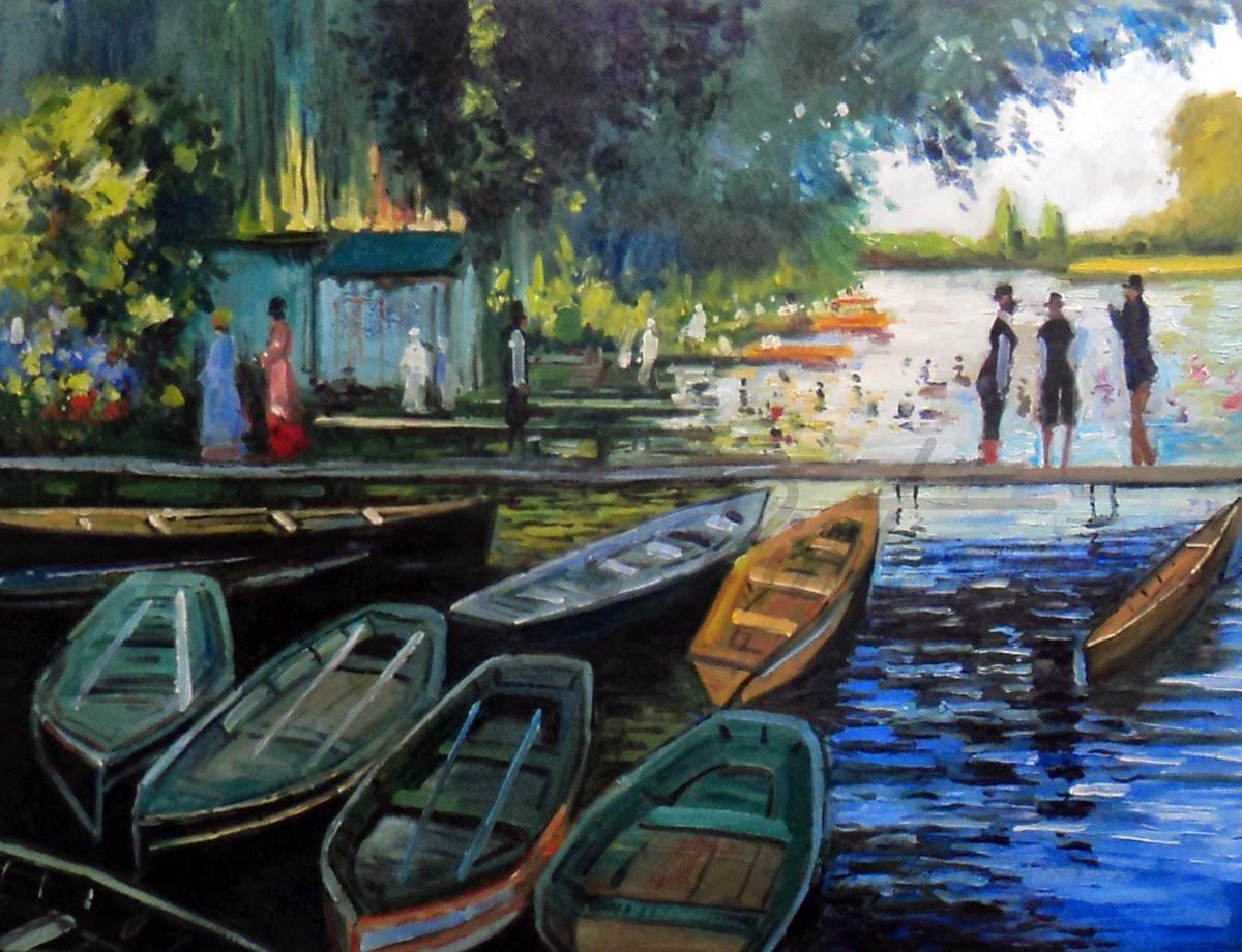 Banhistas na Grenouillière - Pinturas de Monet Claude | O Pai do Impressionismo