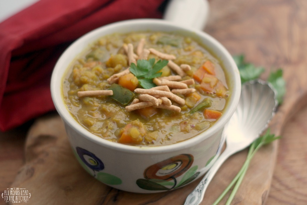 Indian-Spiced Red Lentil and Veggie Soup