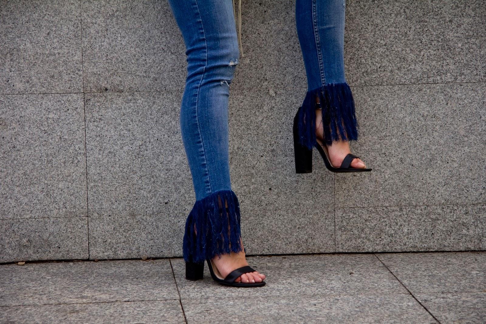frayed jeans diy