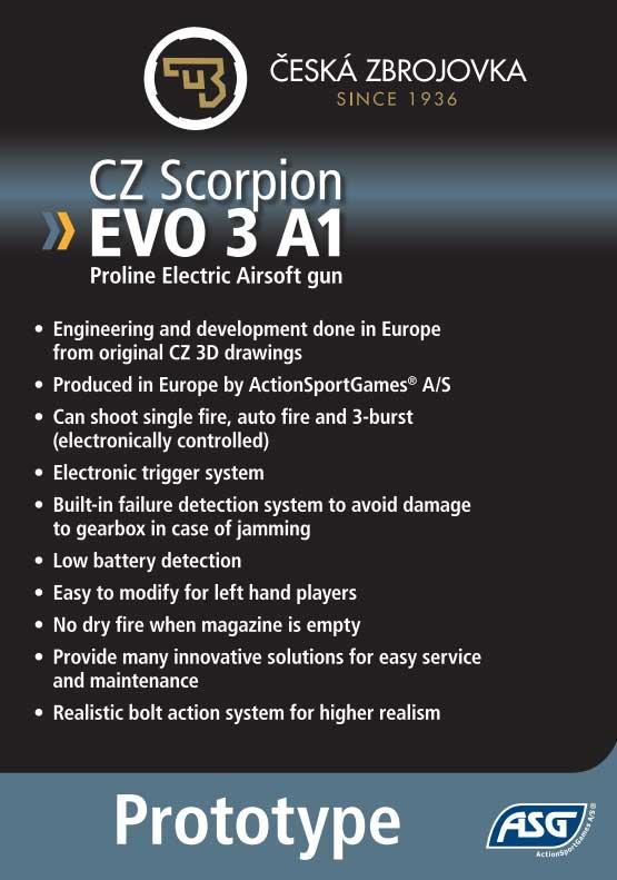 ASG CZ Scorpion EVO 3 A1 Airsoft.  f0f40e61590