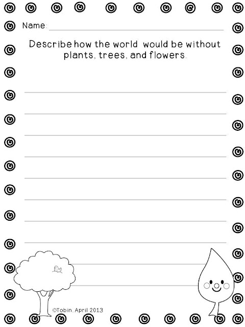 FREE- Earth Day Writing Activities and Crafts- with a freebie writing sample page