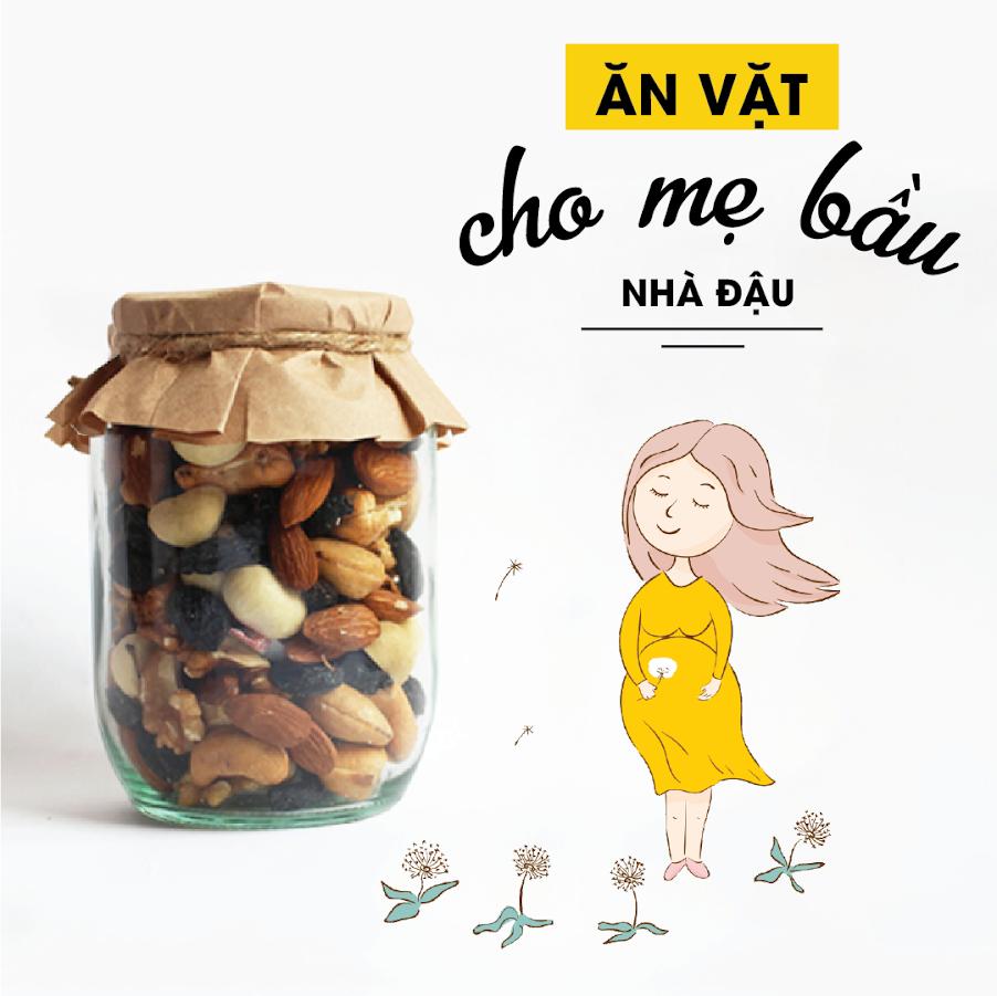 Mix hạt dinh dưỡng giúp Mẹ Bầu giảm ốm nghén