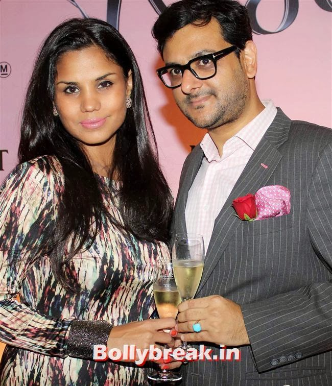Gaurav Bhatia, Marketing Director, Moet Henessey India along with his wife Pratima Bhatia, Celebs at Moet and Chandon Valentines Day Celebrations