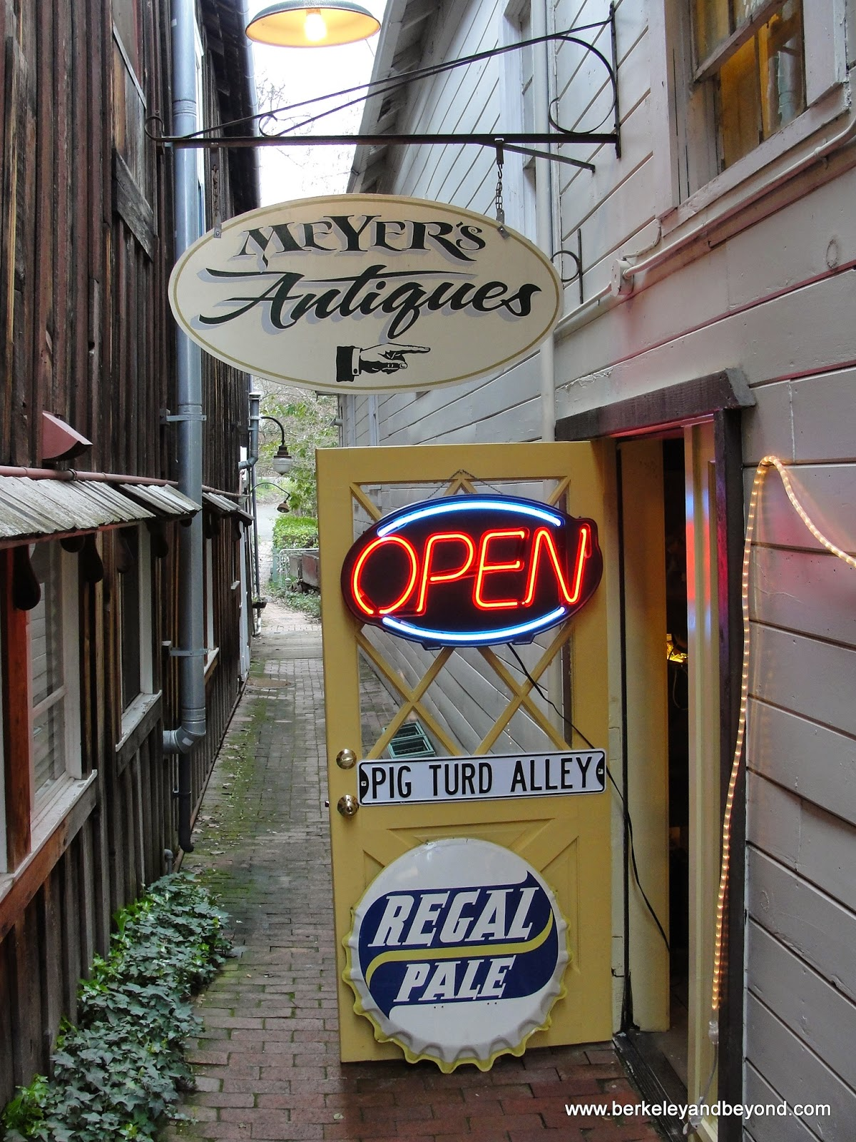 Meyer's Antiques in Pig Turd Alley in Amador City, California