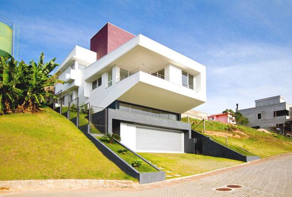 Hogares frescos arquitectura moderna casa dlw for Construcciones minimalistas fotos