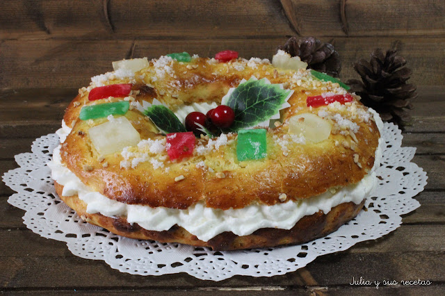 Roscón de reyes sin gluten. Julia y sus recetas