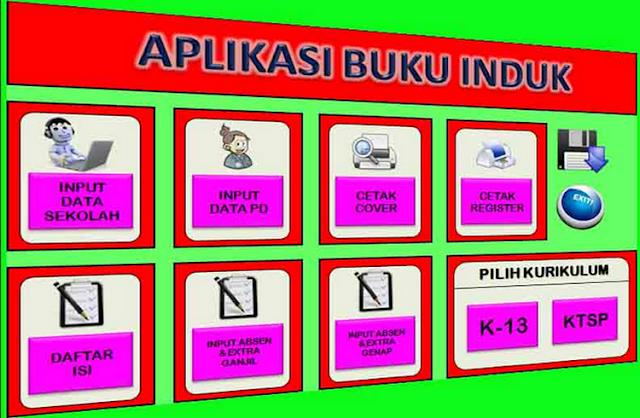 Download Kumpulan Format Buku Induk TK  s.d SMK