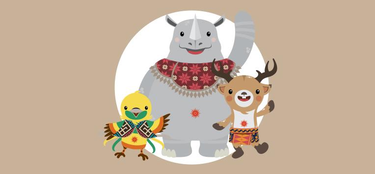 Asian Games 2018 Mascot Vector