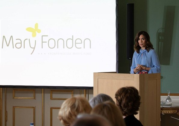 Annual executive board meeting of The Mary Foundation. Crown Princess Mary Jewels, Marianne Dulong Fine Jewelry Anello pearl bracelet and Esme earrings