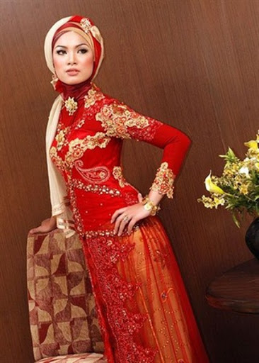 Kebaya muslim pengantin acara pernikahan atau perkawinan terbaru 2017/2018