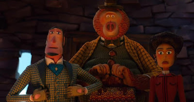 Missing Link 2019 movie still Hugh Jackman Zach Galifianakis Zoe Saldana