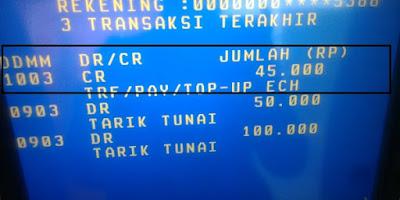 Bukti Pembayaran News Cat Terbaru dari ATM BNI