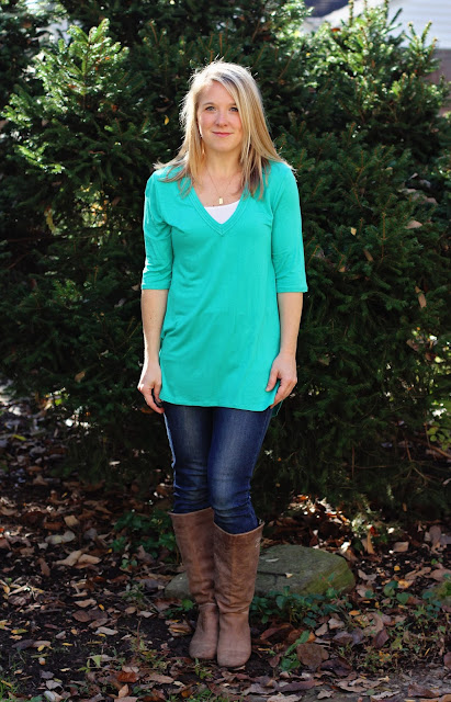 Stitch Fix Market & Spruce Lauty Stitch Double V Neck Knit Top
