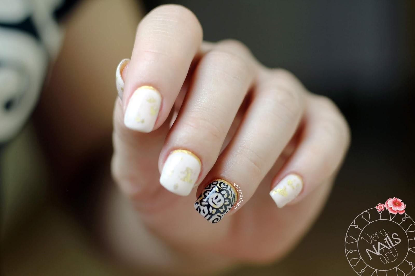 Nail Art Con Pan De Oro Verynailsart Blog De Uñas Decoradas