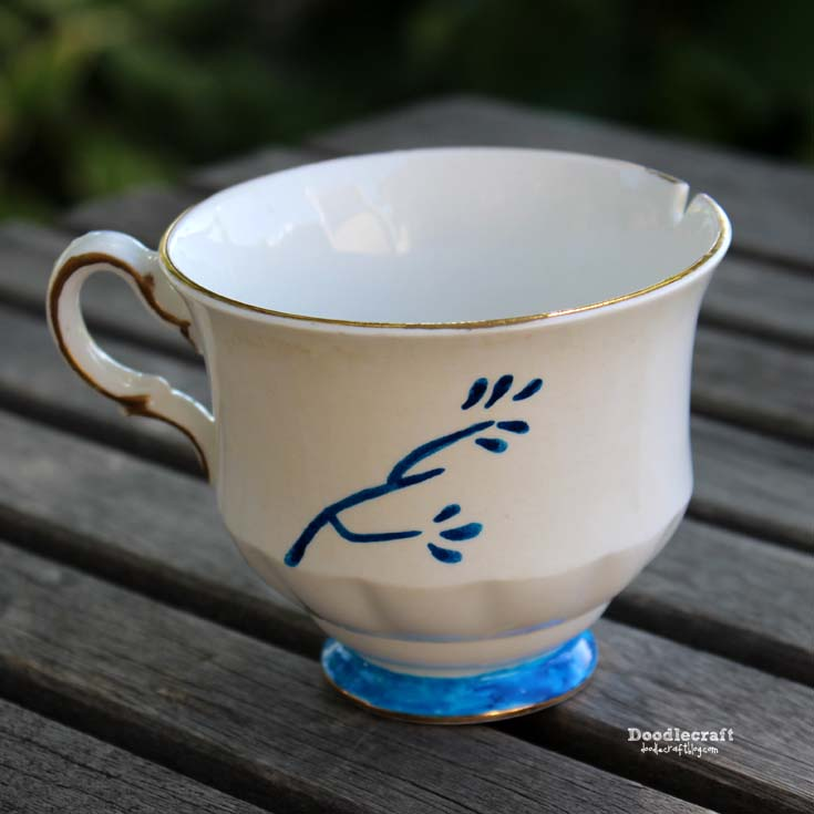 graphic relating to Chip Teacup Printable named The moment On A Year Belles Chipped Cup!