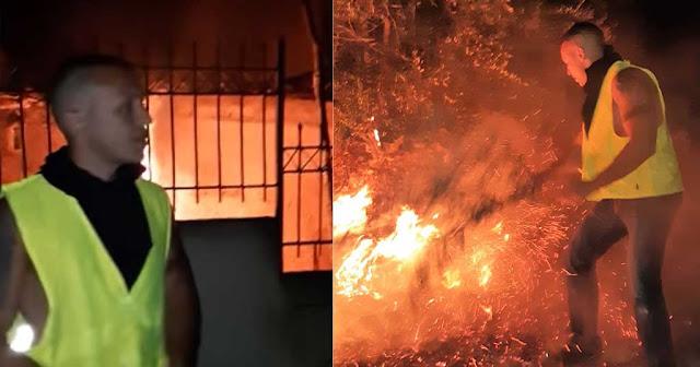 Βουλευτές της ΧΑ έσβησαν πυρκαγιές της Ανατολικής Αττικής