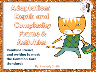 This is the cover to my Adaptations Packet on sale in my Teachers Pay Teachers Store.