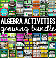 Algebra Activities Growing Bundle