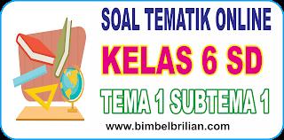 Soal Online Tematik K13 Kelas 6 SD Tema 1 Subtema 1 Tumbuhan Sahabatku - Langsung Ada Nilainya